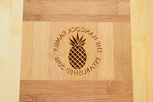 Personalized Engraved Bamboo Board -