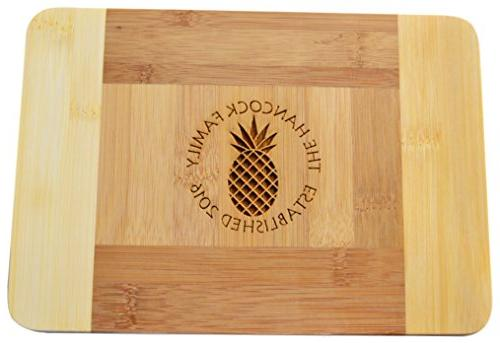 personalized custom engraved bamboo cutting