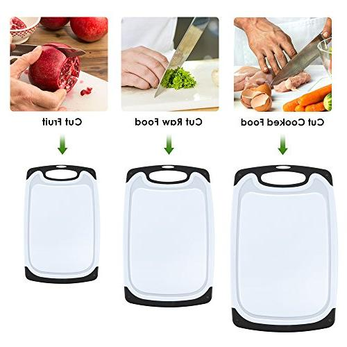 Plastic Board,oobest Cutting Board with Non-Slip and Drip Juice Groove safe