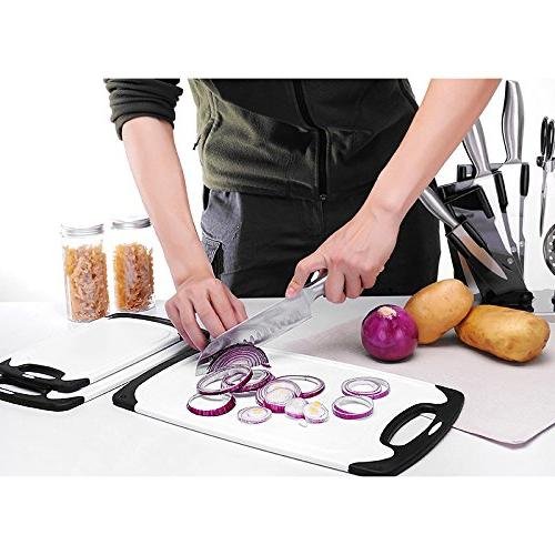 Plastic Piece Chopping Cutting Board with Non-Slip and Drip safe -Decorated your kitchen
