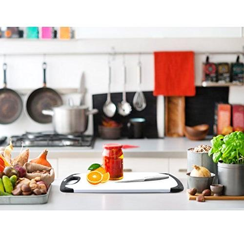 Plastic Cutting Board,oobest Cutting with Non-Slip Feet and Drip safe your kitchen