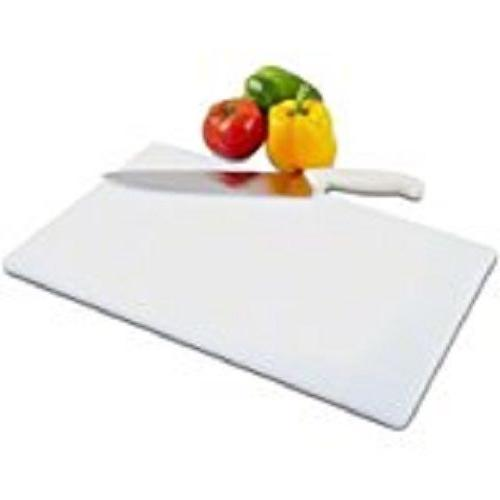 "White Plastic  Cutting Board 1/2"" x 18"" x 24"" FDA/NSF"