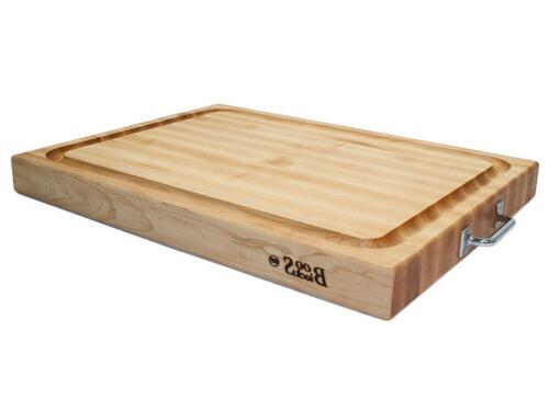 reversible cutting board w stainless