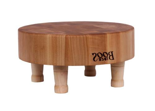 round chopping board maple finish