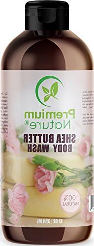 Shea Butter Body Wash - 100& Natural – Made With Macadamia