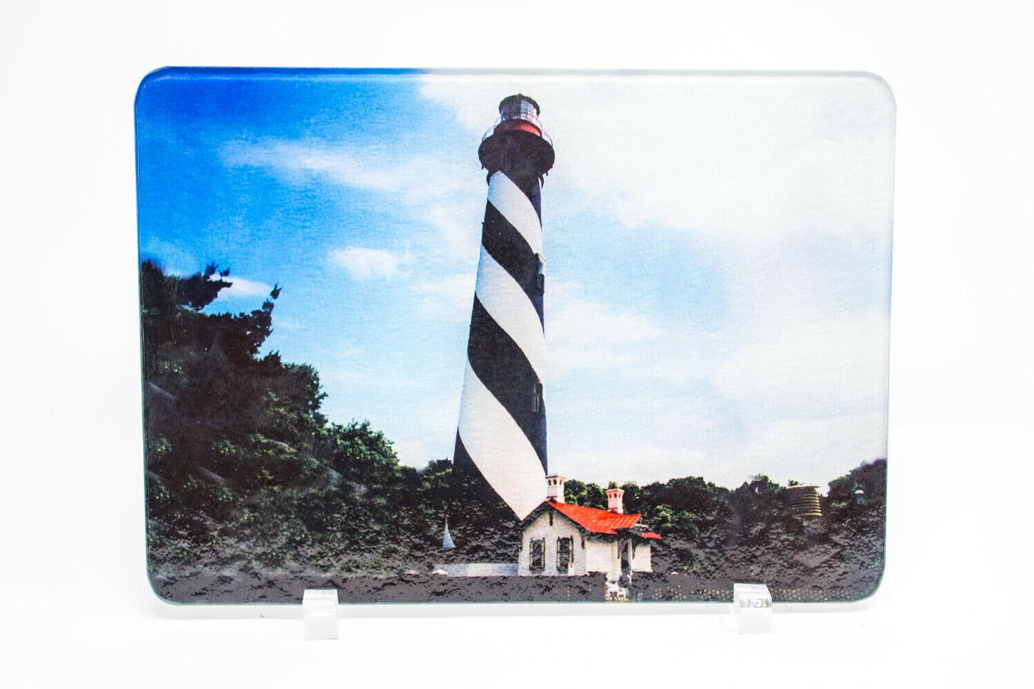 st augustine florida lighthouse cutting board hand