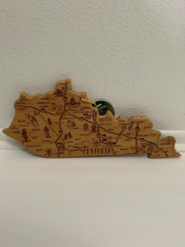 state cutting and serving board kentucky nwt