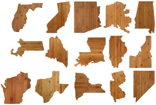 state shaped cutting and serving boards 49