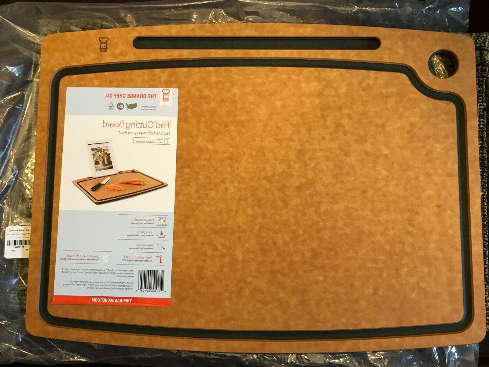 the cutting board with ipad stand black