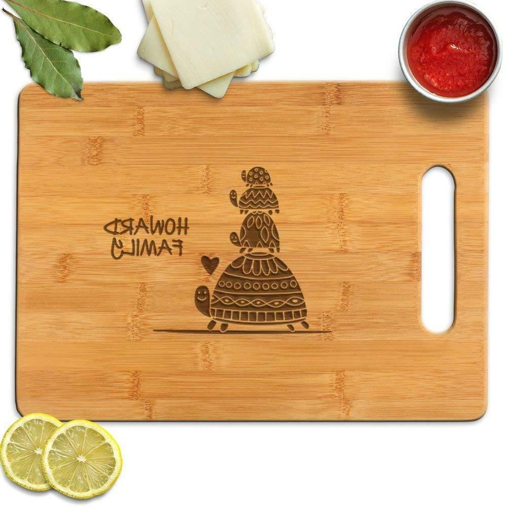 Turtle Family personalized cutting boards for Realtors New h