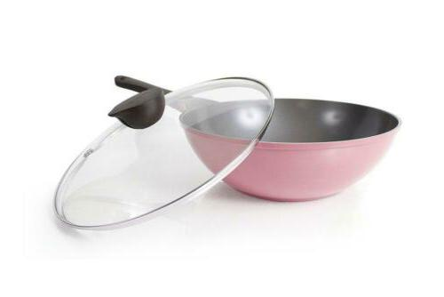 Neoflam Wok with Lid 12inch Ceramic in