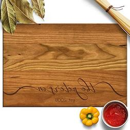 Froolu Lacy Monogram handcrafted cutting boards for Family N