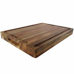 Large Reversible Multipurpose Thick Acacia Wood Cutting Boar
