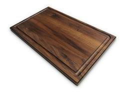 large walnut wood cutting board by 16x10