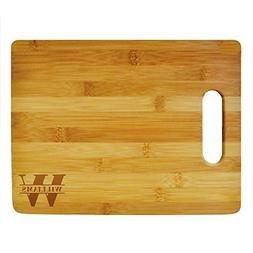 Custom Cutting Board Last Name Monogram Design - Wood Engrav
