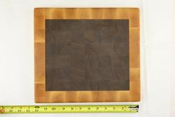 Handmade Maple & Black Walnut End Grain Cutting Board, Butch