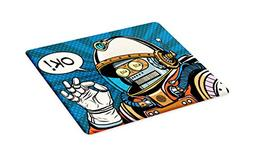 Ambesonne Modern Cutting Board, Futuristic Comics Super Hero