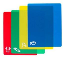 NEW 4-Pack Color-Coded Flexible Chopping Mats Cutting Boards