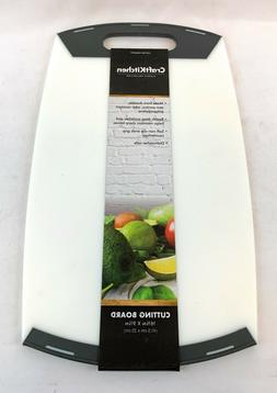"""NEW! CraftKitchen Cutting Board White with Black Handles 16"""""""