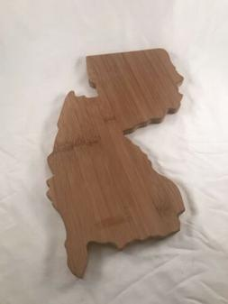 Farberware New Jersey Shaped State Wood Cutting Board New Wi