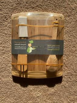 NEW Greener Chef Organic Bamboo Cutting Board and Kitchen Ut