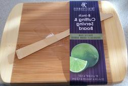 NEW Totally Bamboo Small Rectangular Two-Tone Cutting & Serv
