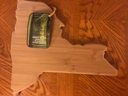 Totally Bamboo New York State Shaped Cutting & Serving Board