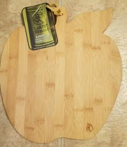 NWT Totally Bamboo Cutting & Serving Board, Apple shape