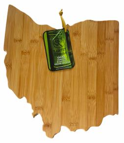 NWT Totally Bamboo Ohio State Shaped Bamboo Serving and Cutt
