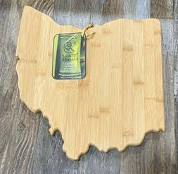 Totally Bamboo Ohio State Shaped Bamboo Serving Cutting Boar