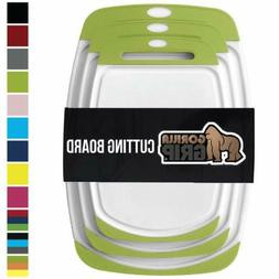 GORILLA GRIP Original Reversible Cutting Board, 3-Piece, BPA