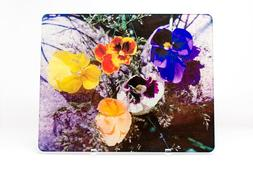 Pansy Flower Blossoms Glass Cutting Board,  Serving Platter,