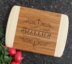 Personalized Cutting Board, Custom Engraved Bamboo Cutting B