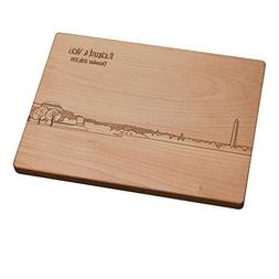 Personalized Cutting Board - Washington DC Skyline