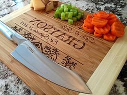 Personalized by Name Cutting Board for Kitchen - Wood Boards
