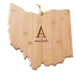 Personalized Family Initial Ohio State Cutting Board, Bamboo