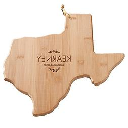 GiftsForYouNow Family Name Personalized Texas Shaped Cutting