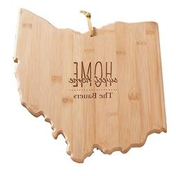Personalized Home Sweet Home Ohio State Cutting Board, Bambo