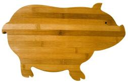 Totally Bamboo Pig Cutting Board