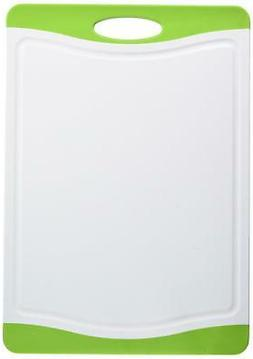 "Neoflam 17"" Plastic Cutting Board in White and Green - BPA F"