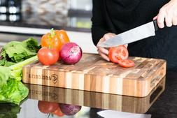 Castlencia Premium Thick Acacia Wood Cutting Board Butcher B