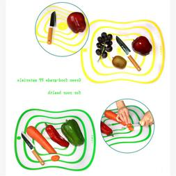 Skidproof Kitchen Dining Plastic Cutting Boards Chopping Boa