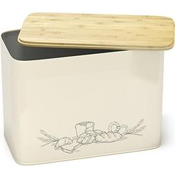 Space Saving Extra Large Vertical Bread Box With Eco Bamboo
