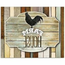 CounterArt Glass Counter Saver Cutting Board Rustic Rooster