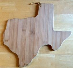 Texas Cutting Board, Totally Bamboo w/ leather strap, very n