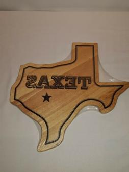 Texas Shaped Wood Cutting Board By Farberware NEW IN PACKAGE