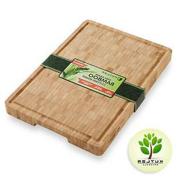 thick end grain bamboo cutting board kitchen