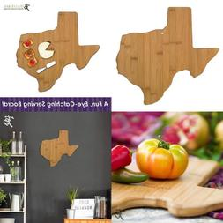 Totally Bamboo 20-7957Tx Texas State Shaped Bamboo Serving &