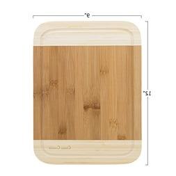 Two Tone Bamboo Cutting Board- Extra Thick, Eco Friendly and