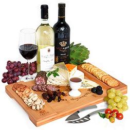 Unique Bamboo Cheese Board Charcuterie Platter and Serving T